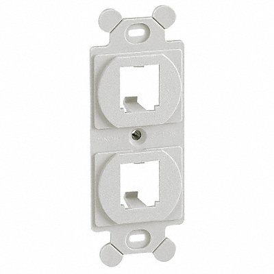 5ZWA7 - 106 Module Frame Mini Com 2 Port Off Wht