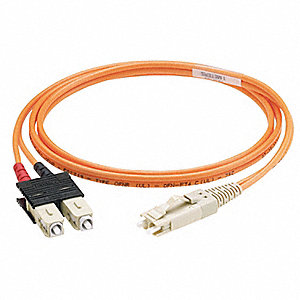 Multi-Mode, Duplex, Fiber Optic Connector Type: SC/LC, 3m Length