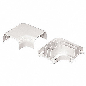 PVC Right Angle For Use With LD Raceway, Off White