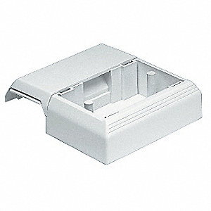 PVC Offset Box For Use With Pan-Way® T-45 Raceway, Off White