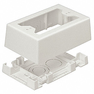 PVC Junction Box For Use With Pan-Way® T-45 or LD Profile Raceways, Off White