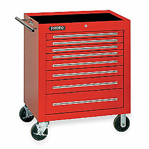 CABINET ROLLER 348 DRAWERS RED