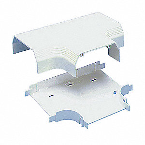 PVC Tee For Use With Pan-Way® T-70 Raceway, Off White