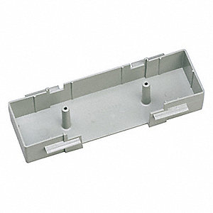PVC GFCI Three Sided Hanging Box For Use With Pan-Way® T-70 Raceway, Gray