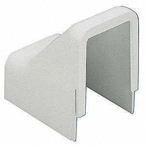 PVC Drop Ceiling/Entrance End For Use With LD5 Raceway, Off White