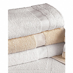 BATH TOWEL,WHITE,24X50,PK 12