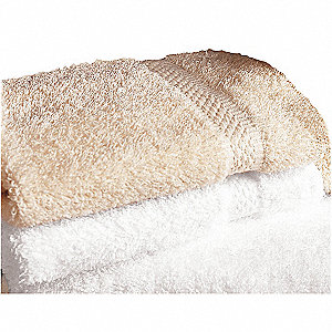 "13"" x 13"" 100% Cotton Wash Towel, White&#x3b; PK48"