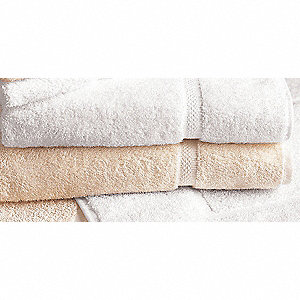 "54"" x 27"" 100% Cotton Bath Towel, Ecru; PK12"