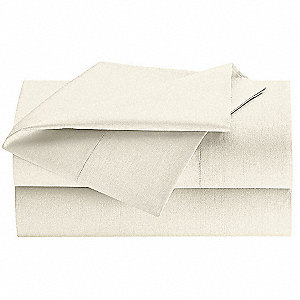 Queen T300 Thread Count Flat Sheet, Bone&#x3b; PK24