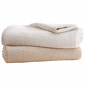 "90"" x 90"" Queen Cotton Blanket, Natural"