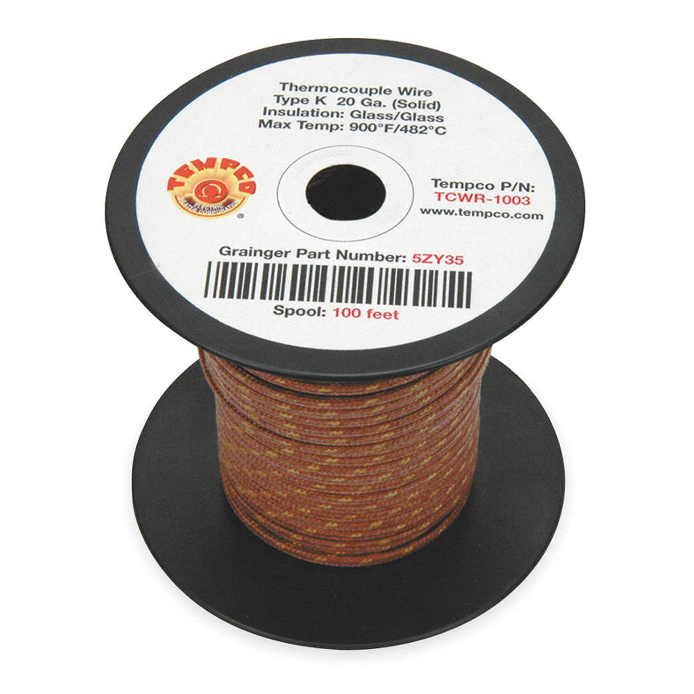 Tempco 100 ft solid fiberglass k wire thermocouple wire with 20 zoom outreset put photo at full zoom then double click keyboard keysfo Gallery
