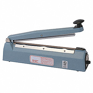 "Hand Operated Bag Sealer; Seal Length: 20"", Seal Width: 1/16"", Overall Height: 30"""