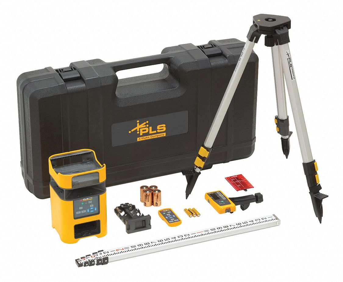 Automatic Self-Leveling Rotary Laser Kit, Horizontal and Vertical, Interior and Exterior