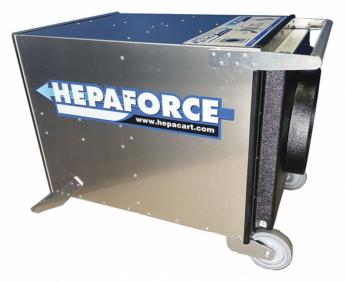 Negative Air Machine,  HP 5/8,  Voltage 120,  4 Amps,  Yes,  Height 20-1/2 in,  Length 35-1/4 in