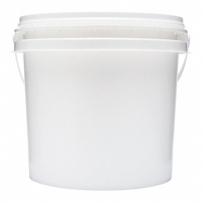 Empty Bucket,  2XL,  Center Pull Roll,  (400) Wipes,  Plastic,  White,  PK 2