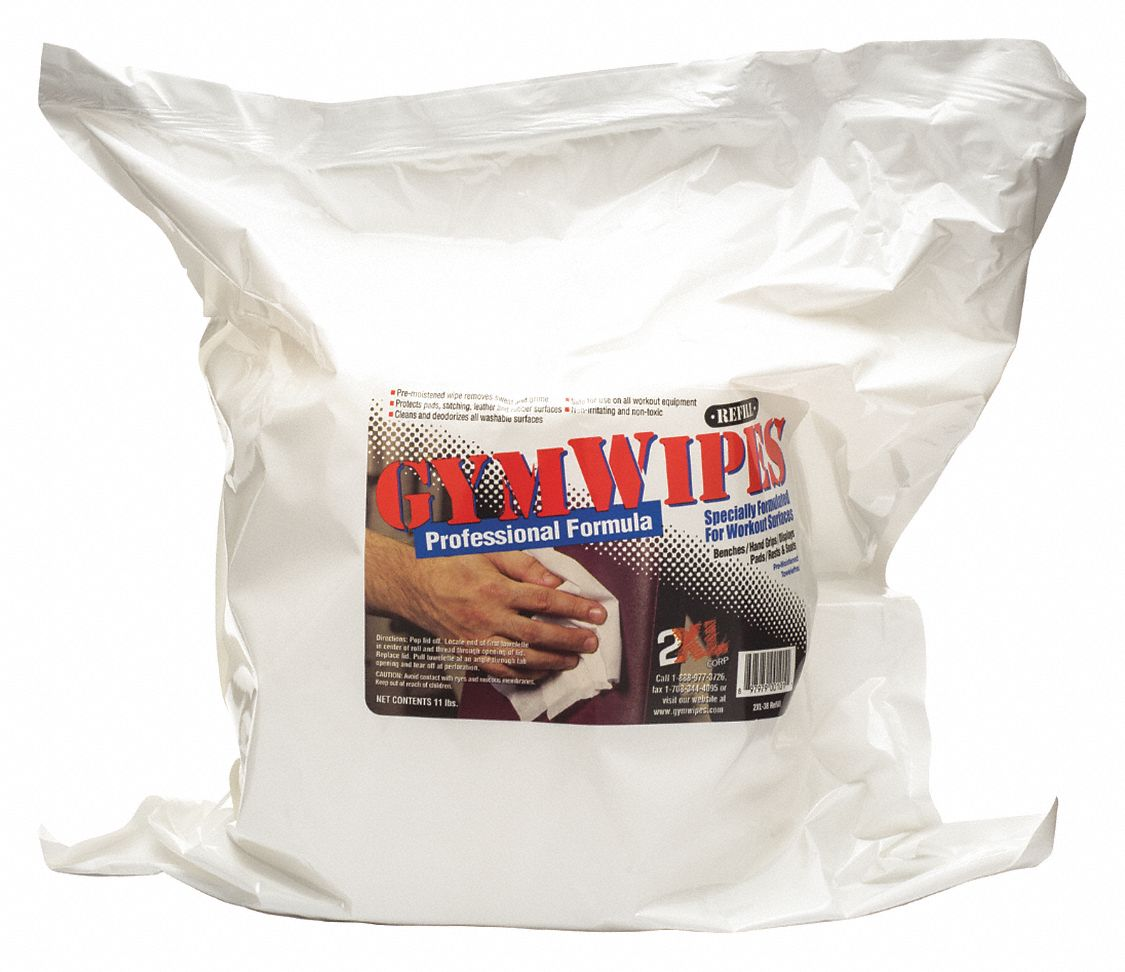 Gym Wipes,  6 in x 8 in,  PK 4