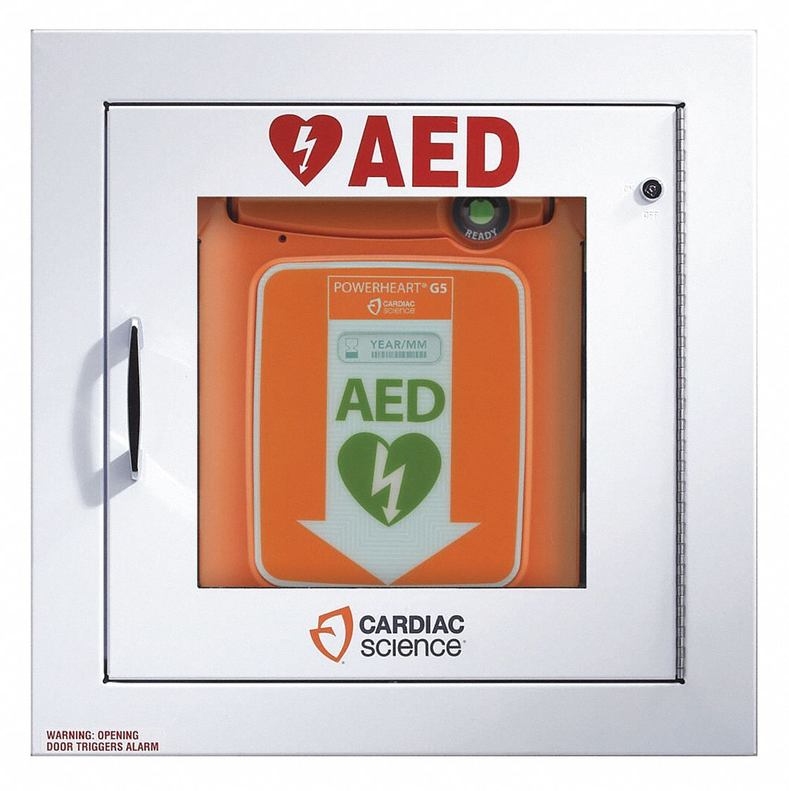 AED Storage Accessory,  White,  Stainless Steel,  For Use With Automated External Defibrillator