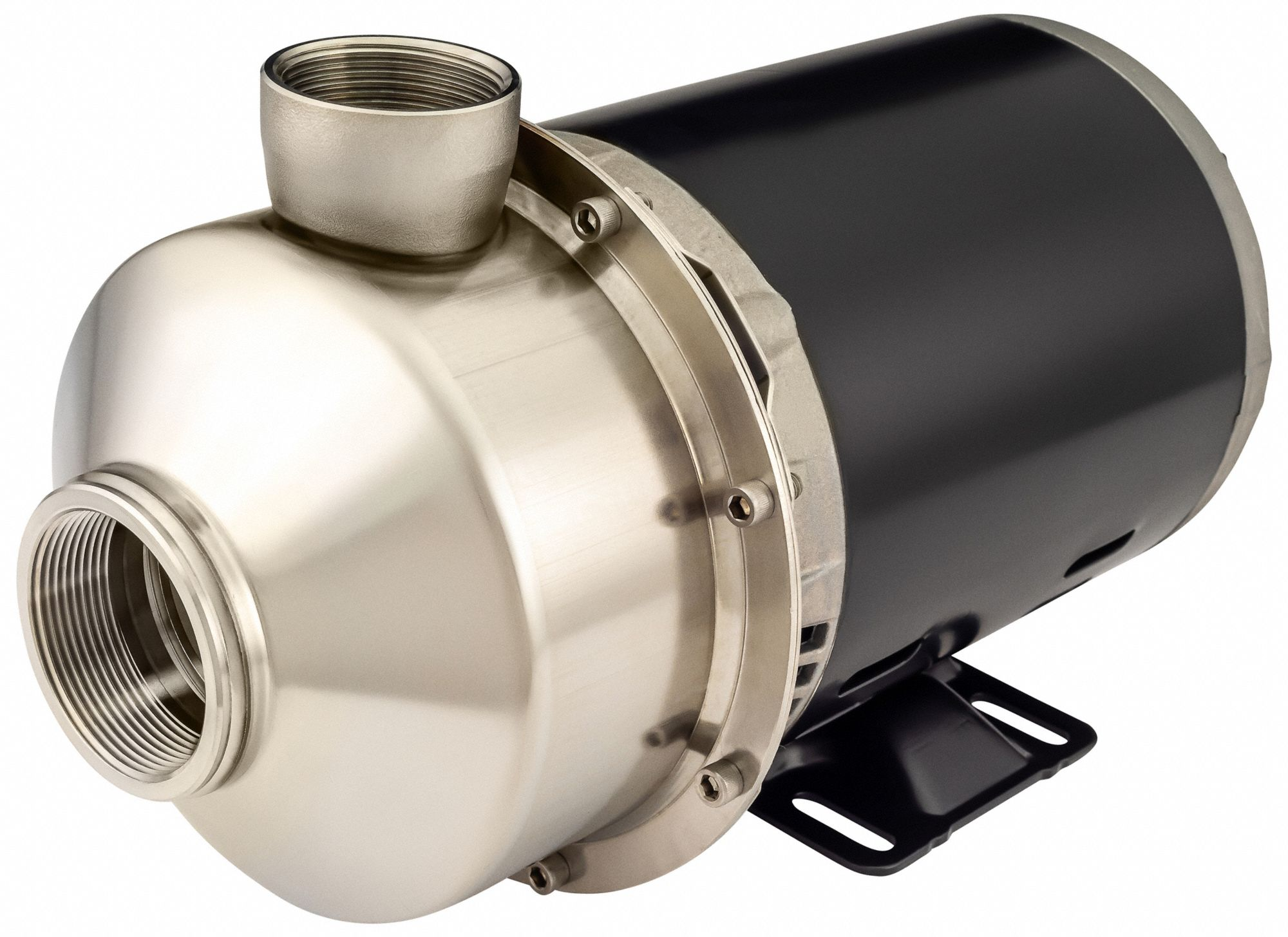 230VAC Totally Enclosed Fan-Cooled Straight Center Discharge Pump, 1-Phase, 2 in NPT Inlet Size