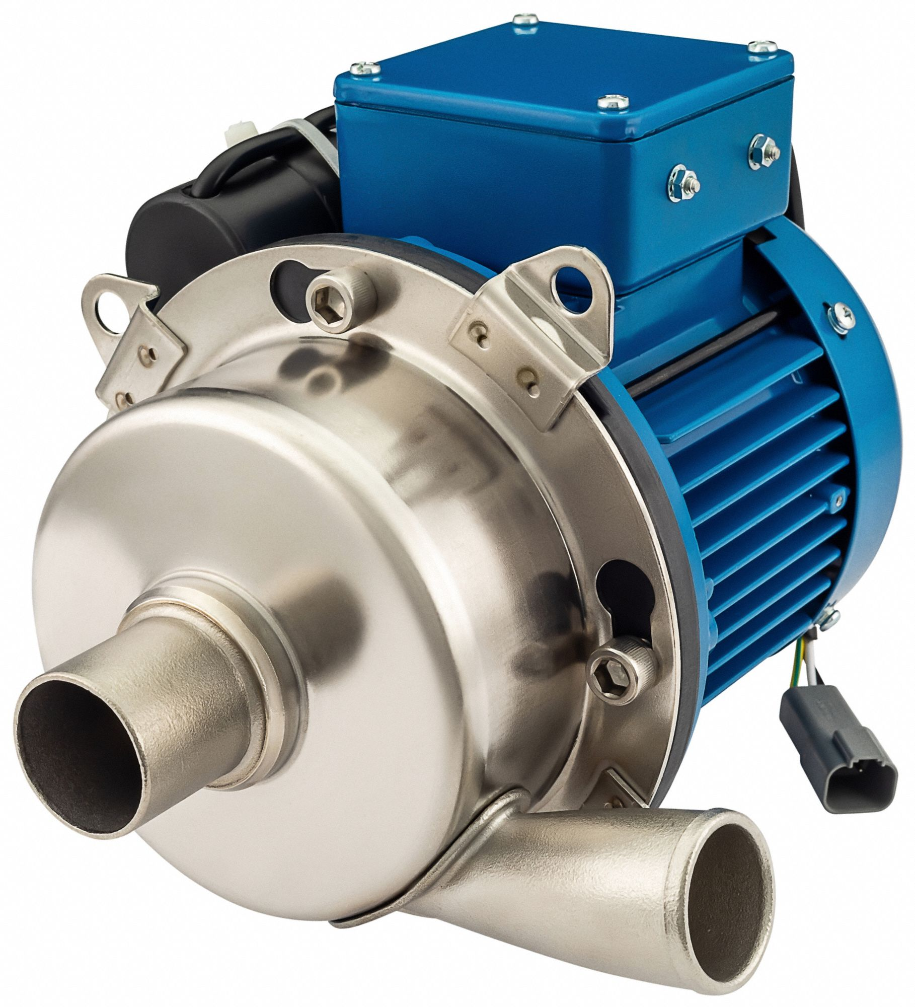 115/230VAC Totally Enclosed Fan-Cooled Straight Center Discharge Pump, 1-Phase, 1.5 in barb Inlet Si