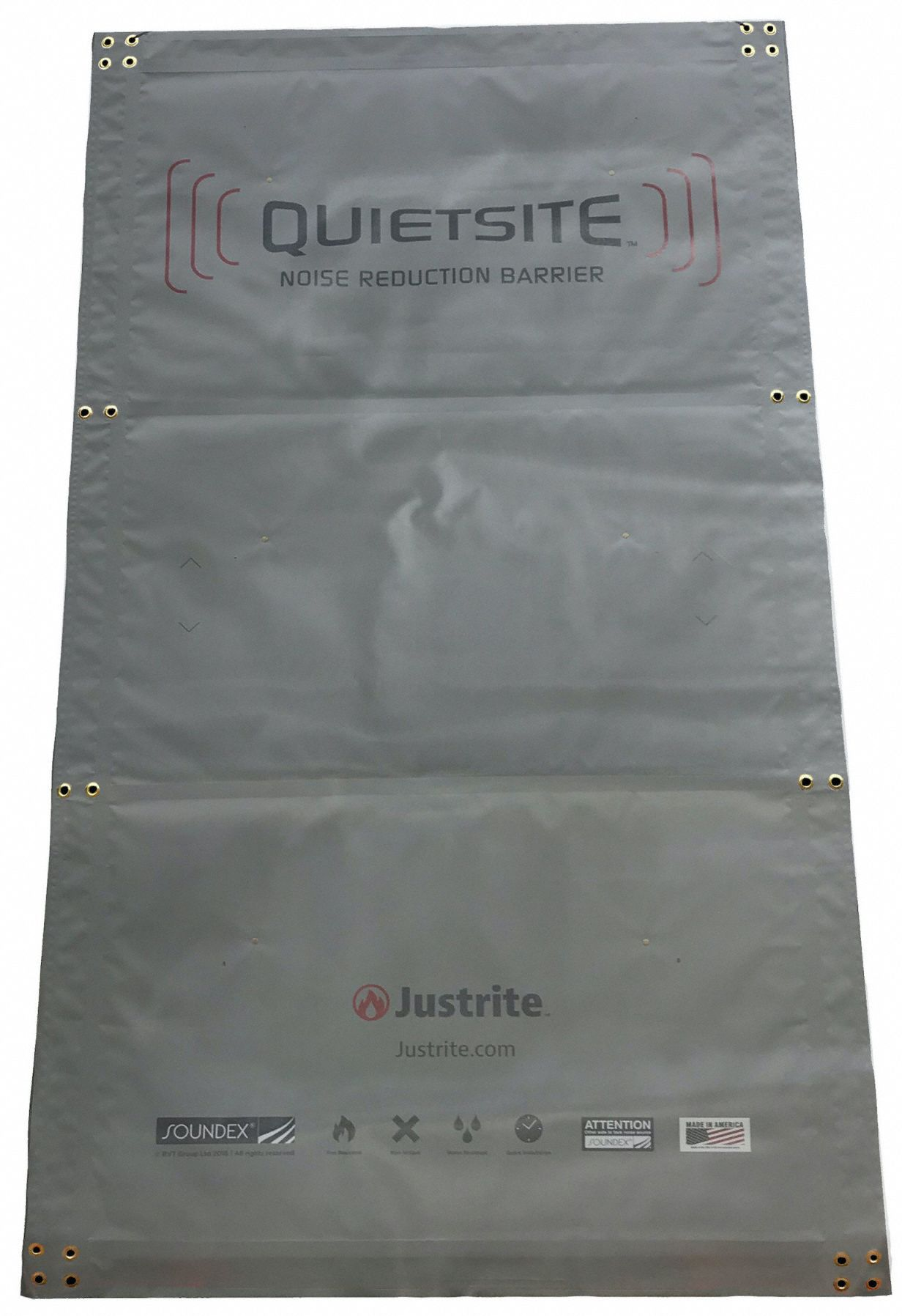 Noise Barrier Panel,  60 in Width,  96 in Length,  Polyester,  1 in Thickness