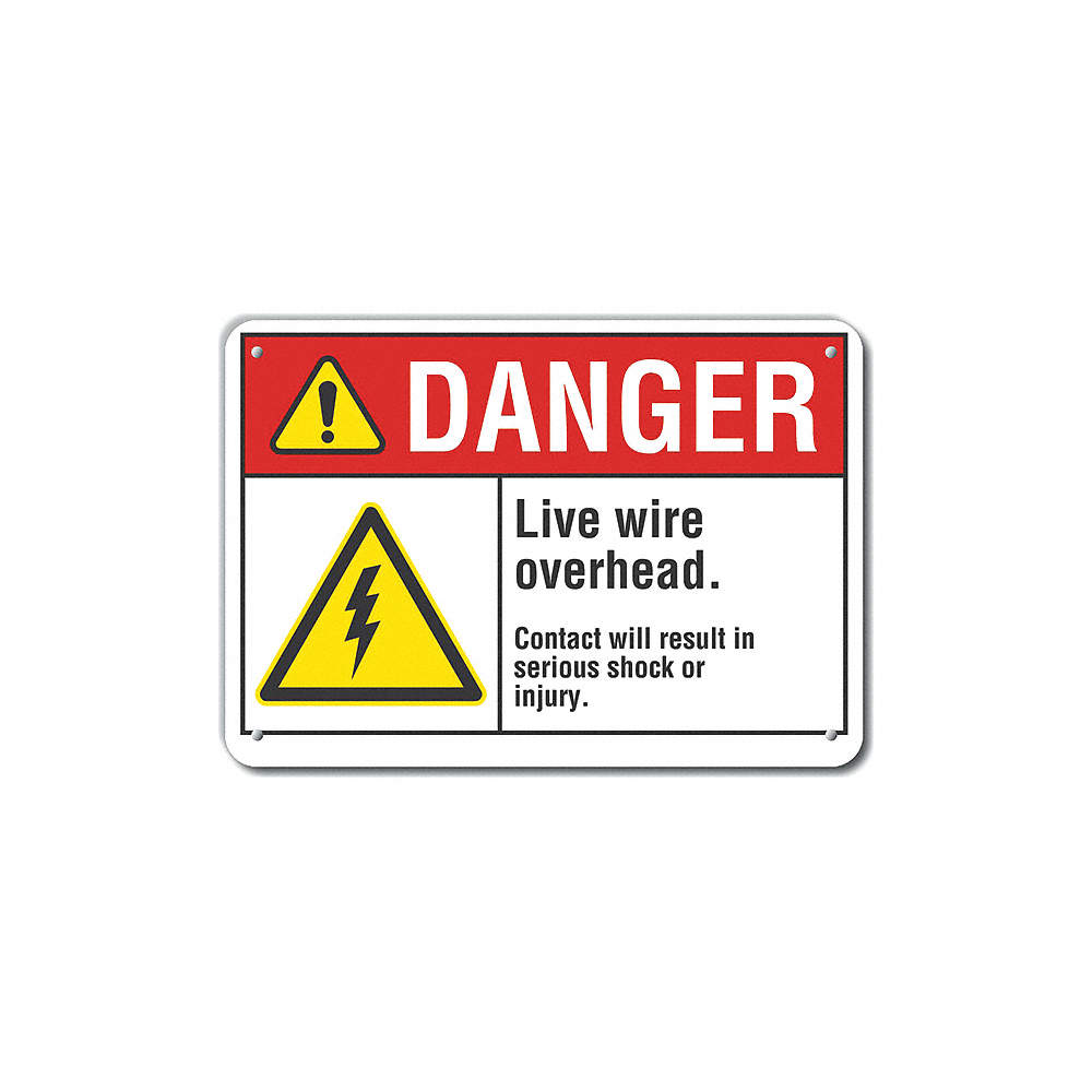 Lyle Electrical Hazard Danger Recycled Aluminum 7 X 10 With Dangers Of Wiring Zoom Out Reset Put Photo At Full Then Double Click