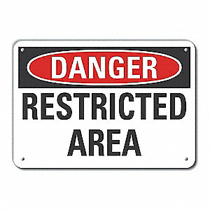 "Authorized Personnel and Restricted Access, Danger, Recycled Aluminum, 10"" x 14"""