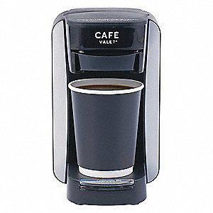 "8-1/2"" x 4-1/2"" x 8-1/2"" Coffee Maker with 1 Adjustable Strength Settings, Black"
