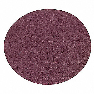 PSA Sanding Disc,AlO,Cloth,12 In,80 Grit