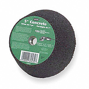 "5"" Flaring Cup Grinding Wheel, C16-Q, Type 11, 2"" Thickness, 5/8""-11 Arbor Size, 16 Grit, EA1"