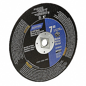 "7"" Cut-Off Wheel, 0.125"" Thickness, 5/8"" Arbor Hole"