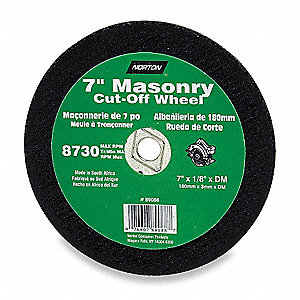 "8"" Cut-Off Wheel, 0.125"" Thickness, 5/8"" Arbor Hole"