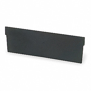 Black Shelf Bin Divider