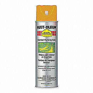 Fluorescent Orange Inverted Striping Paint, Water Base Type, 15 oz.
