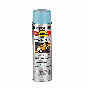 Blue Inverted Striping Paint, Solvent Base Type, 18 oz.