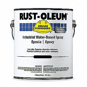 Safety Yellow Epoxy Paint, Gloss Finish, 200 to 350 sq. ft./gal. Coverage, Size: 1 gal.