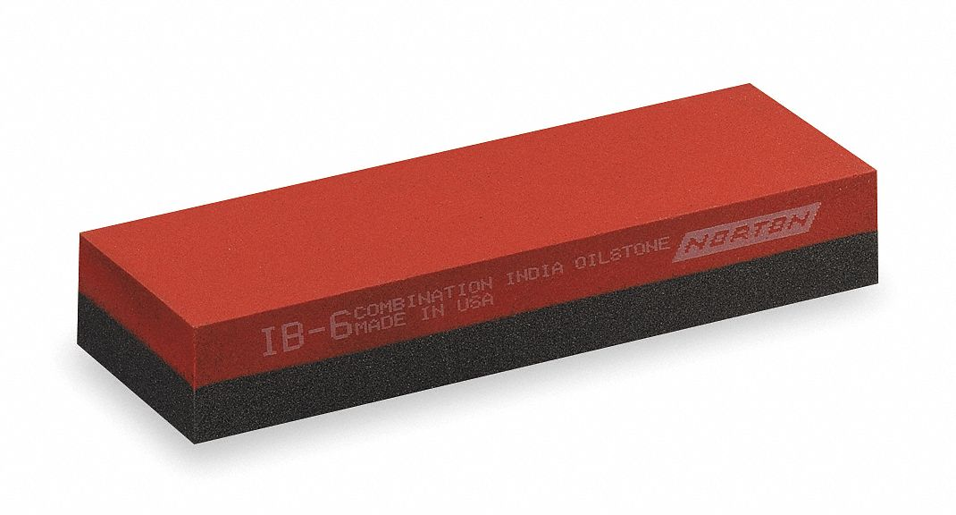 Combination Grit Sharpening Stone,  Silicon Carbide,  Coarse/Fine,  8 in Length