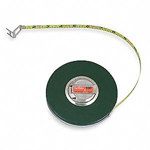 100 ft. Steel Metric Long Tape Measure, Black