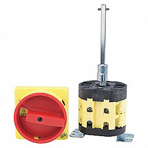 Panel Mount Disconnect Switch, 600VAC Voltage, 85 Amps AC, Number of Poles: 3