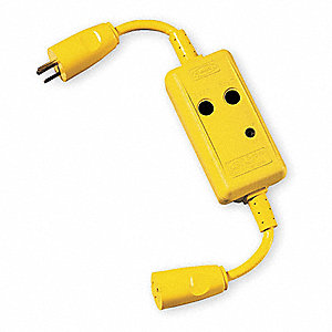 Line Cord GFCI,  3 ft.,  Yellow,  20.0,  Plug Configuration NEMA 5-20P