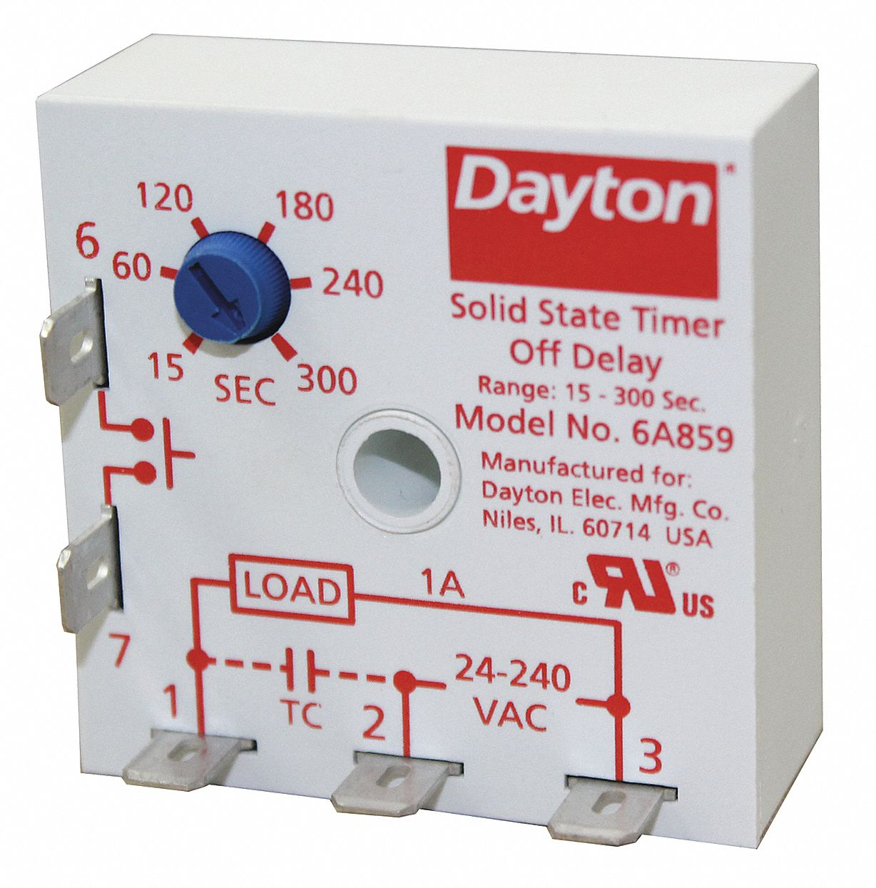 Dayton 6a859 Wiring Diagram Reinvent Your Cyclic Relay Single Function Encapsulated Timing 24 To 240vac Rh Grainger Com Doorbell Wires