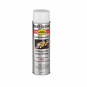 Solvent-Base Inverted Striping Paint, White