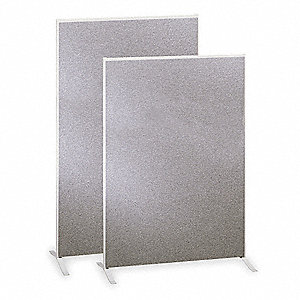 Panel,Melamine Core,60x72 In,Gray