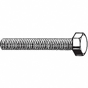 Class 10.9 Hex Head Cap Screw M24-3.00, 70mm Fastener Length, Furnace Black Fastener Finish, Steel