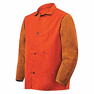 Flame-Resistant Jacket, Orange/Brown, S
