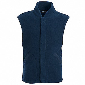 Navy Flame-Resistant Vest Liner, L, 24.4 cal/cm2, Hazard Risk Category (HRC) 2