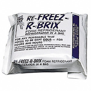 "Reusable Ice Pack, 1 1/2"" x 6"" x 7"", White"