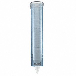 Wall-Mount Plastic Cup Dispenser, Holds 4-1/2 to 12 Oz Cups