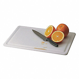 "12"" x 18"" Co-Polymer Cutting Board, White"