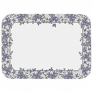"12-3/4"" x 16-5/8"" Orchid Borders Linen Embossed Paper Tray Cover&#x3b; PK1000"