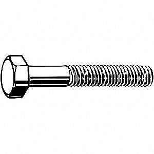 M24-3.00, Steel Hex Head Cap Screw, Class 8.8, 90mmL, Zinc Plated Finish, 1 EA